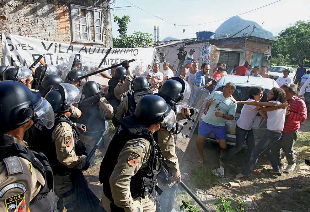 Organizaçao das Olimpíadas e repressão contra moradores das periferias
